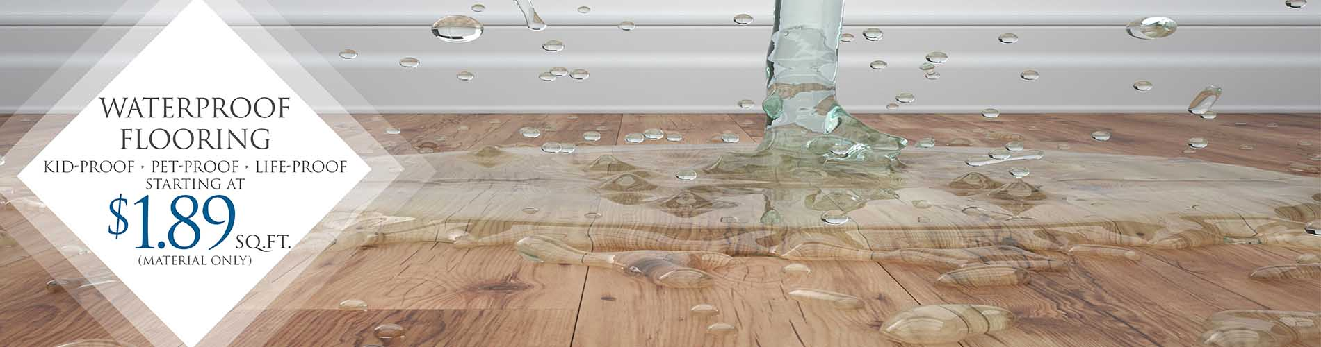 Waterproof Flooring $1.89 Sq. Ft.